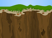 Cliff nature,Landscape background.Gradients used,illustration is an eps10 file