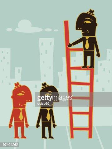 Climbing the Corporate Ladder : Vector Art