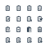Clipboard vector icon set