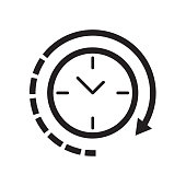 Clock icon Vector illustration, EPS10.