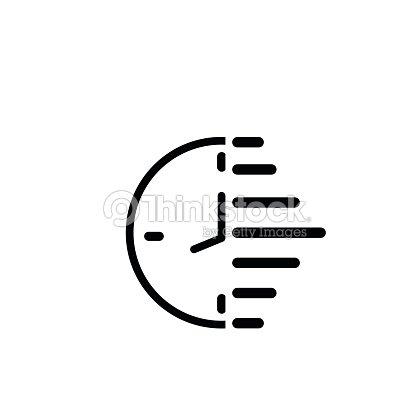 ic ne de lhorloge illustration vectorielle design plat simplifi clipart vectoriel thinkstock. Black Bedroom Furniture Sets. Home Design Ideas