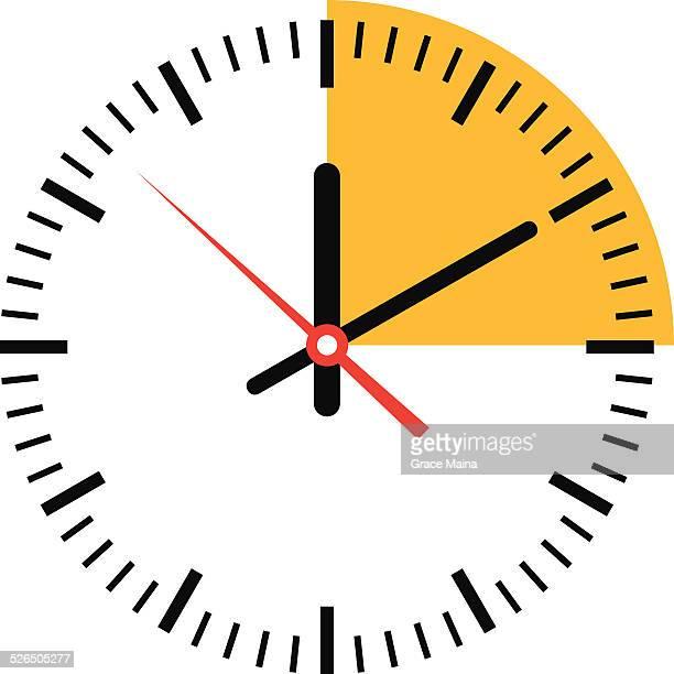 Orologio con tempo-vettoriale