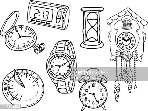 Armbanduhr skizze  Uhren Zeichnen Vektorgrafik | Thinkstock