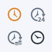A set of 4 professional, pixel-aligned icons designed on a 32 x 32 pixel grid.