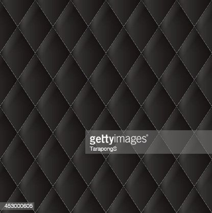 A Close Up Of Diamond Black Leather Upholstery Vector Art Thinkstock