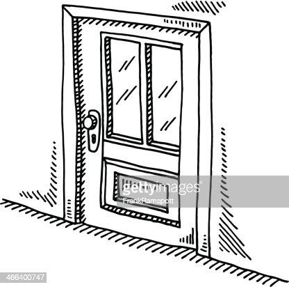 Closed Door Drawing closed door drawing vector art | getty images