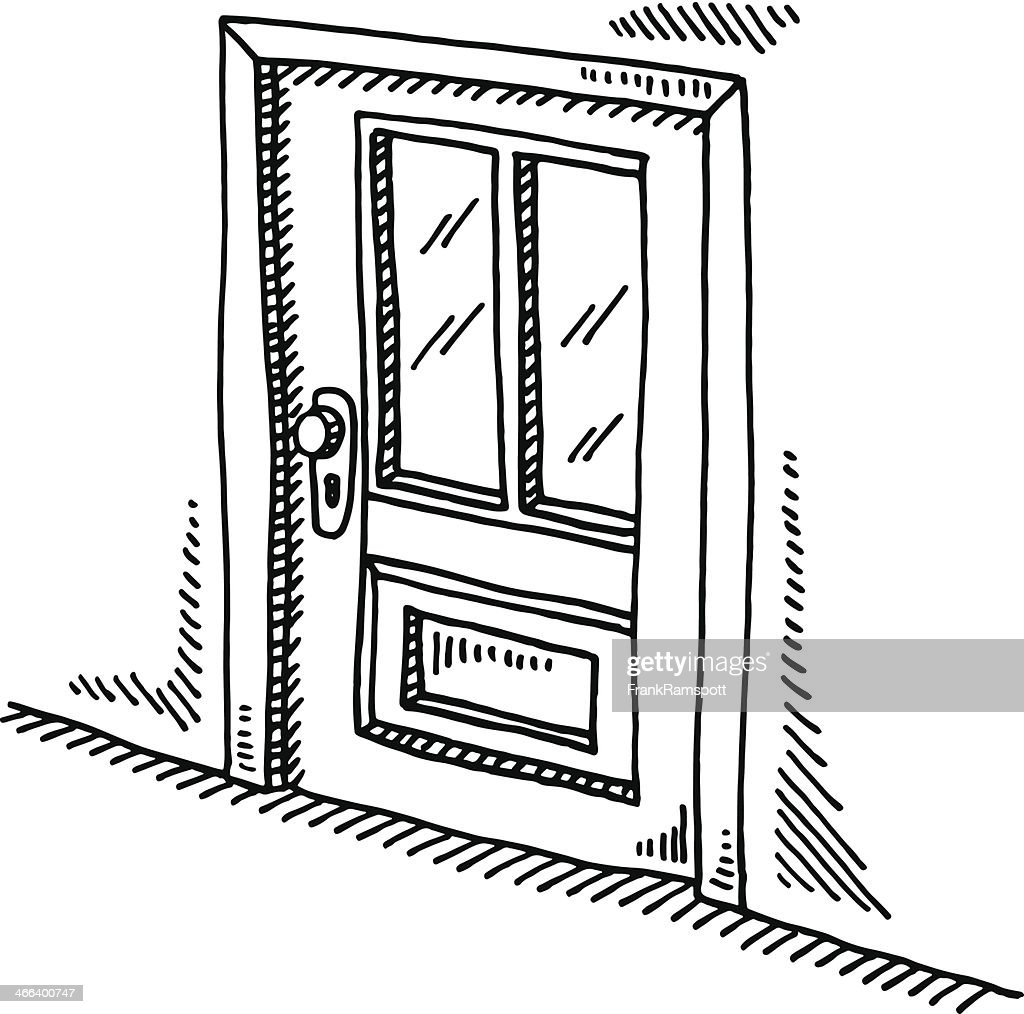 Closed Door Drawing. Closed Door Drawing Getty Images