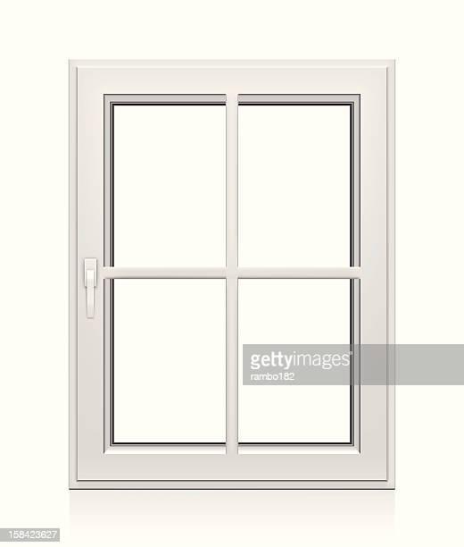 Kunststoff-Fenster geschlossen