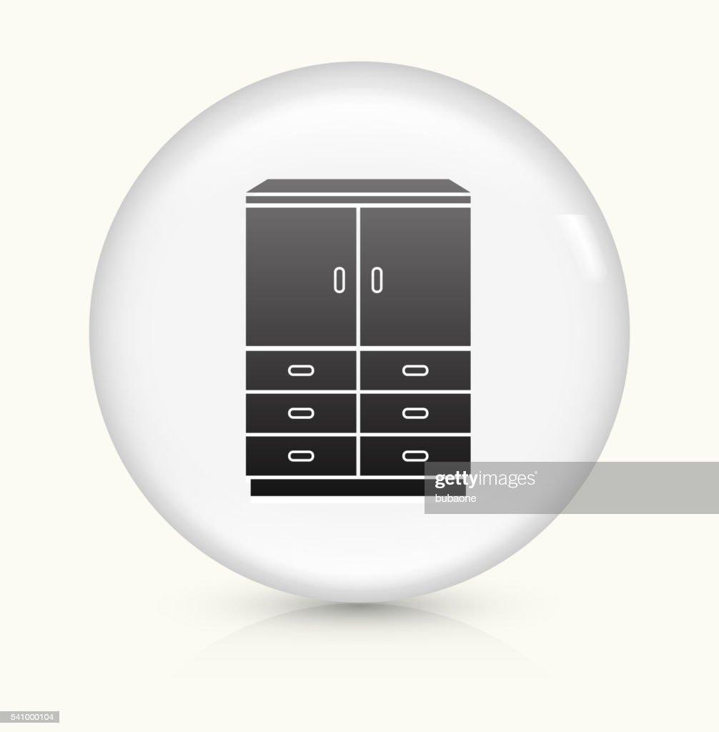 Closet icon on white round vector button vector art for Closet icon