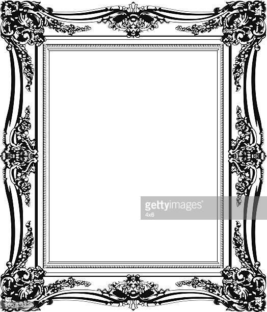 Gros plan d'un cadre photo vide