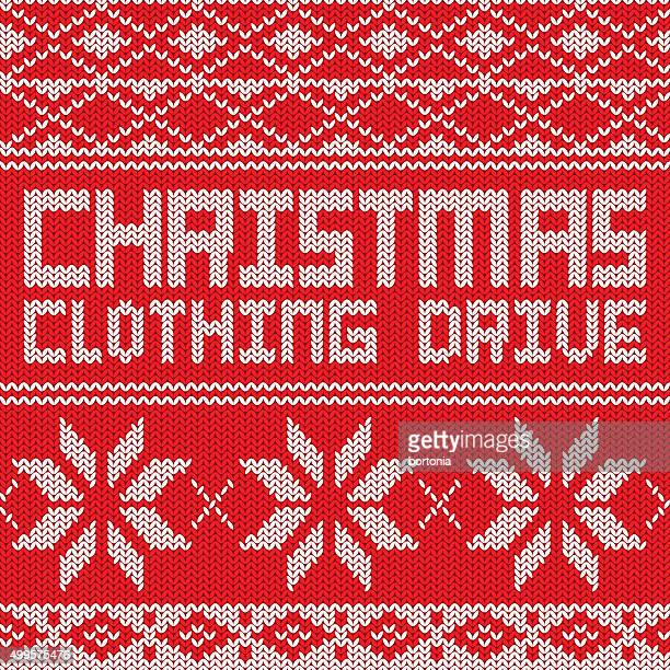 Clothing Drive Knitted Sweater Pattern Poster