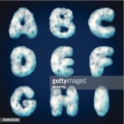 cloud alphabet for design : Vector Art