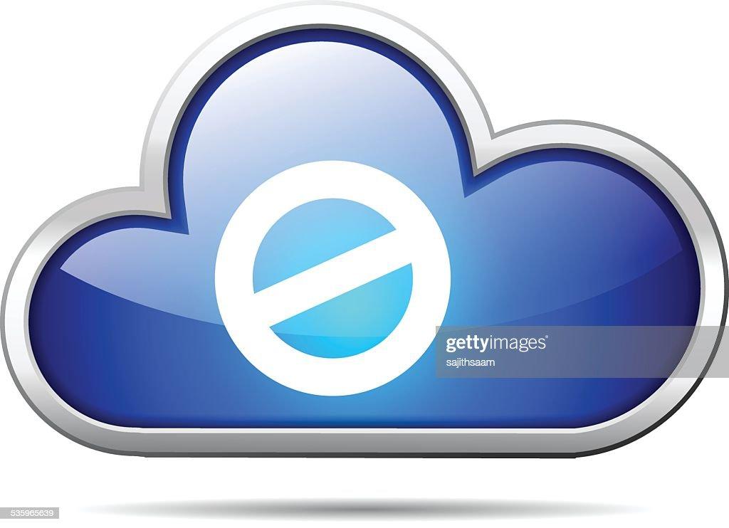 cloud blocked : Vector Art