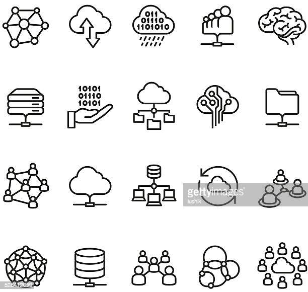 Cloud Computing and Networking icon