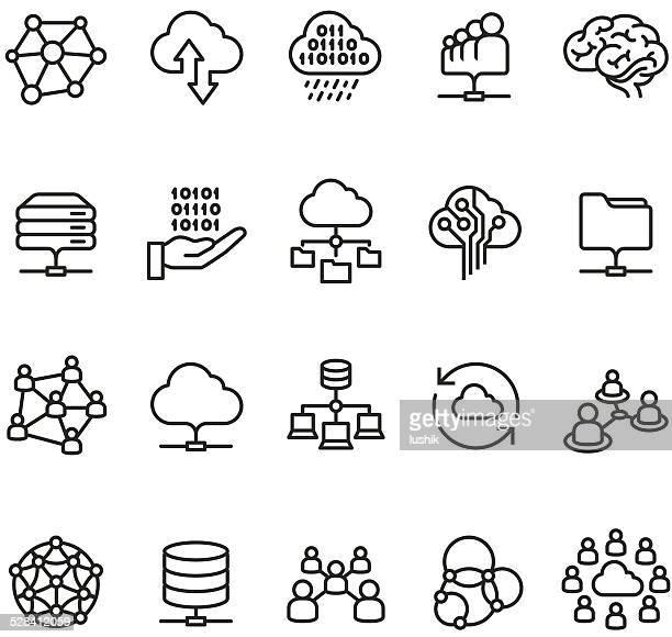 Cloud Computing und Netzwerk-Symbol