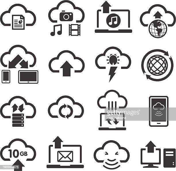 Cloud Computing & Storage Icons