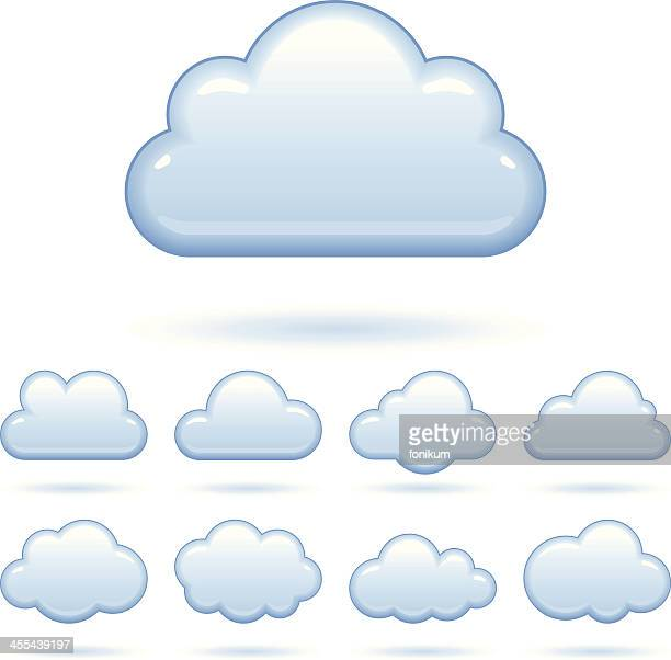 Cloud Icons Set (Vector)