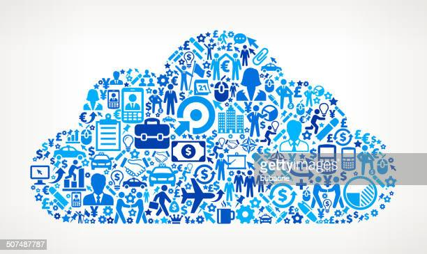 Cloud on Business royalty free vector art Pattern