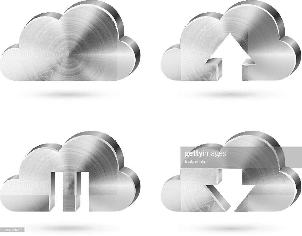 Cloud storage service icon : Vector Art