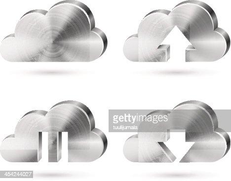 Cloud storage service icon : Vector Art