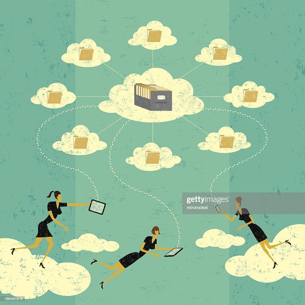 Cloud Storage Technology : Vector Art