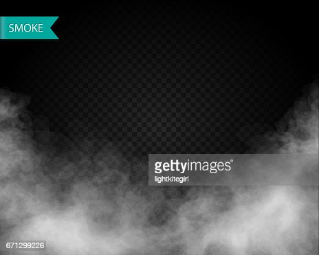 Clouds or smoke vector on transparent background : Arte vettoriale