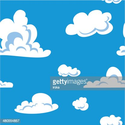 Clouds seamless pattern : Vector Art
