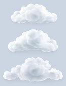 Clouds, vector set