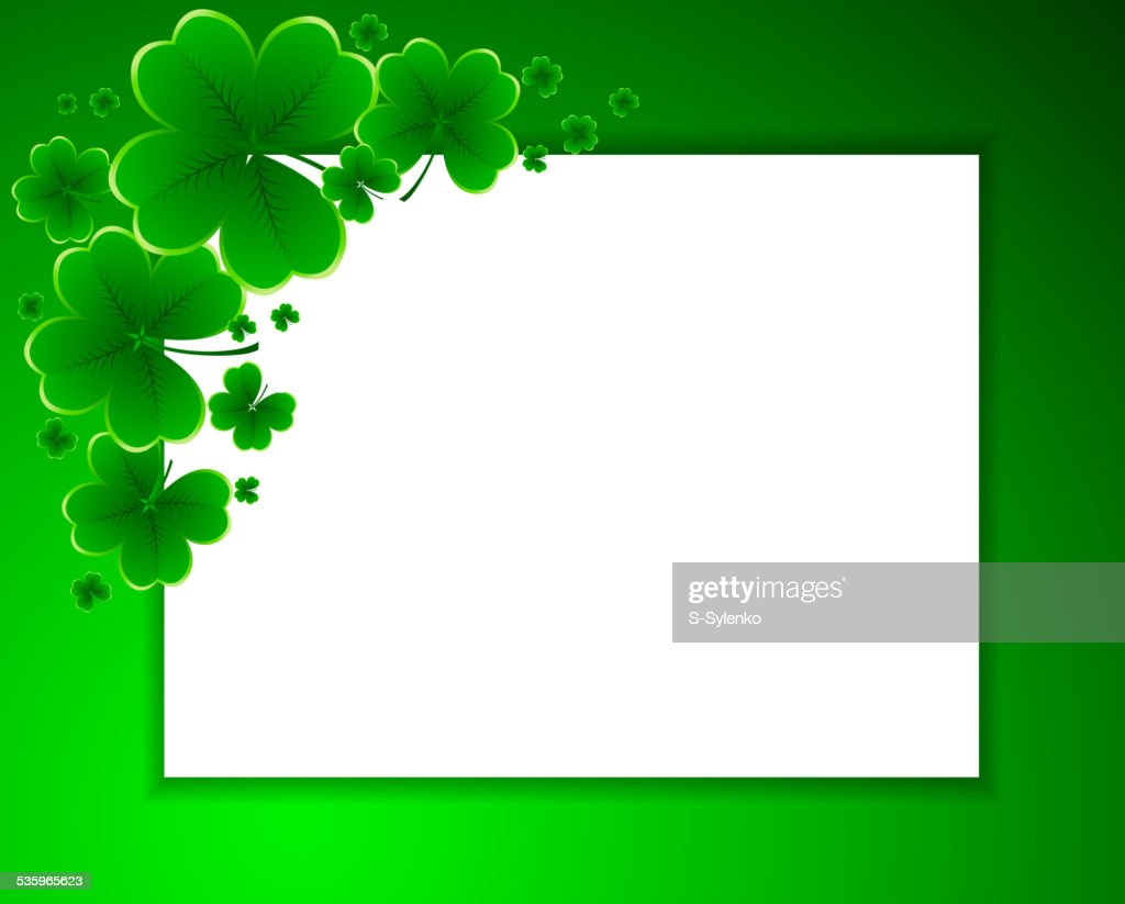 clover background for the St. Patrick's Day : Vector Art