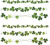 Clovers or Shamrocks Dividers. St.Patric Day.