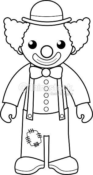Clown Coloring Page For Kids Vector Art | Thinkstock