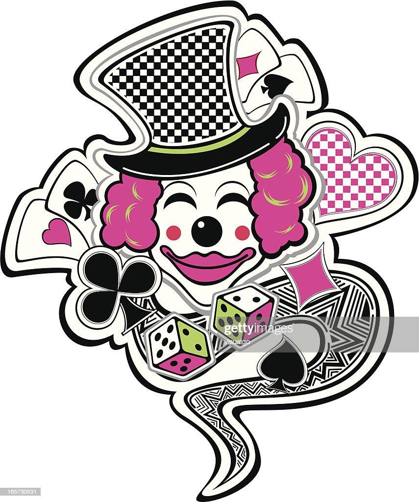 clown joker : Vector Art