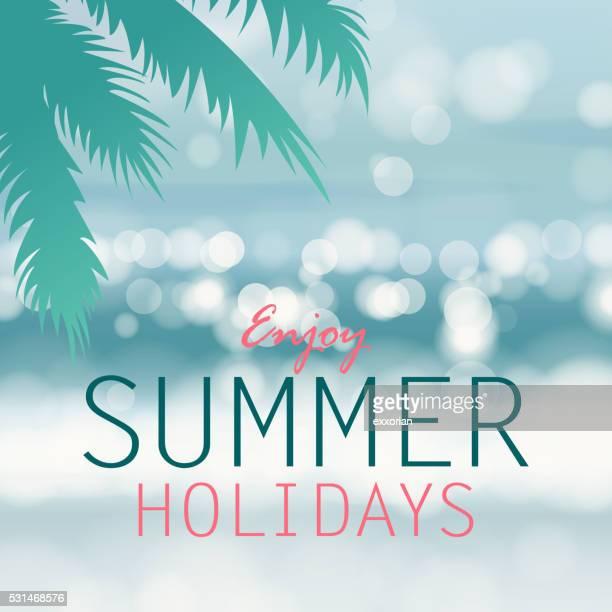 Côte arrière-plan pour les vacances d'été