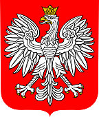 Coat of arms of Poland, vector illustration.