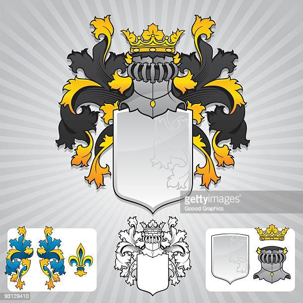 Coat of Arms symbols in different styles