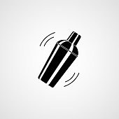 Cocktail shaker. Icon