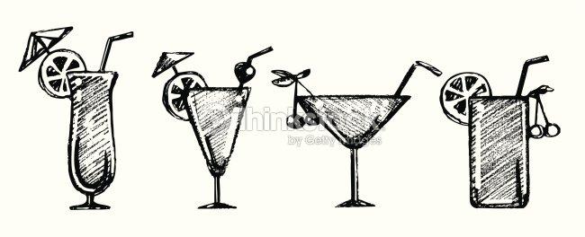 Ensemble de cocktails clipart vectoriel thinkstock - Dessin cocktail ...