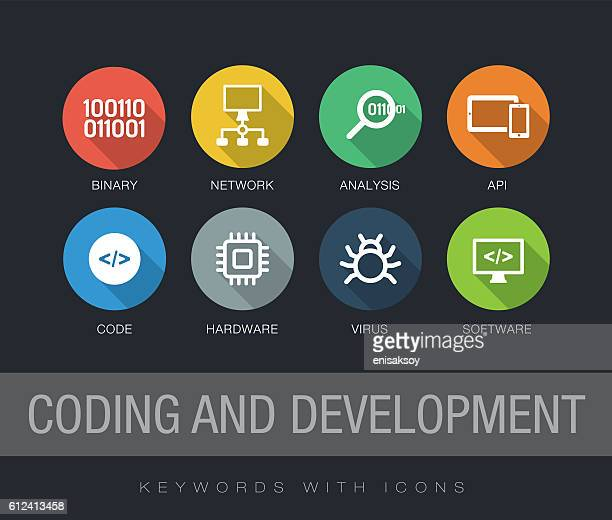 Coding and Development keywords with icons