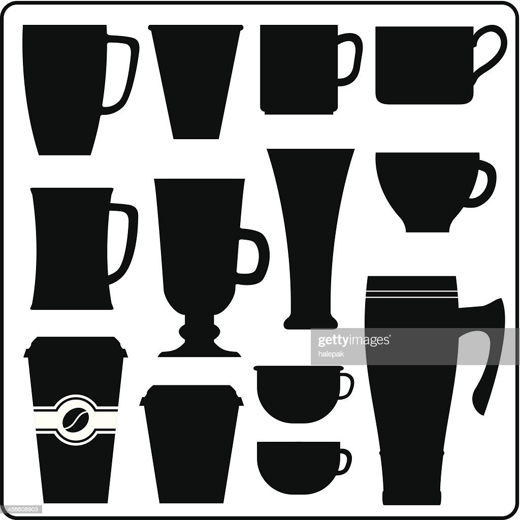 Coffee cup vector free - Coffee And Tea Hot Drink Cups Vector Art