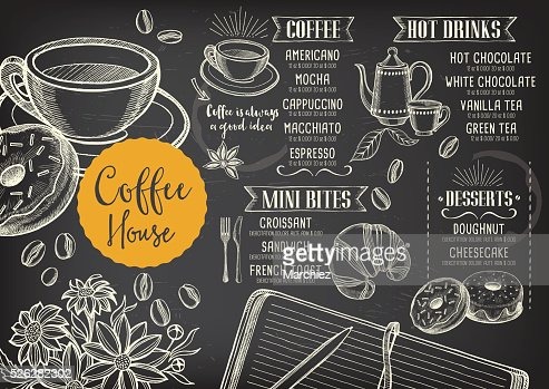 Coffee Cafe Menu Template Design Vector Art  Thinkstock