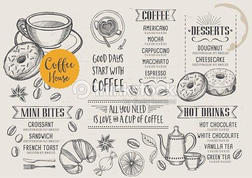 Coffee Cafe Menu Template Design Vector Art Thinkstock
