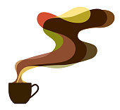 Coffee cup and aroma image