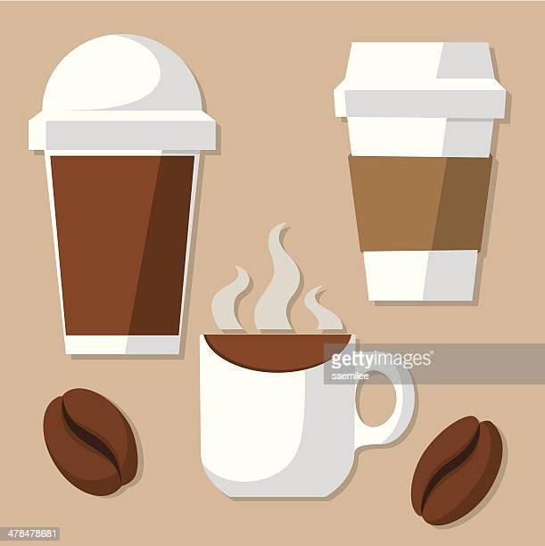 Kaffeetass'und Bohnen