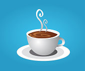 coffee cup and smoke