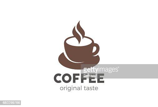 Coffee cup icon design vector template. Cafe symbol icon : stock vector