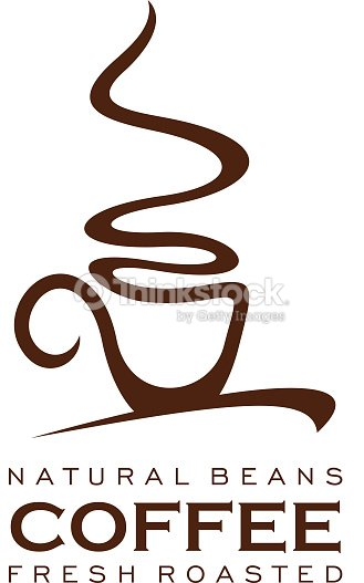 Coffee cup with steam icon for food, drink design