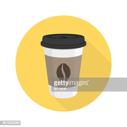 Coffee flat vector icon. : stock vector