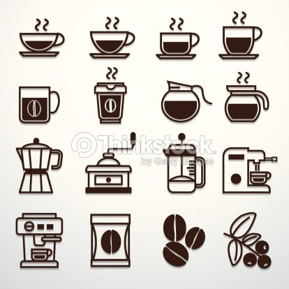 Coffee Icons Set Vector Art