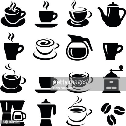 Coffee icons : stock vector