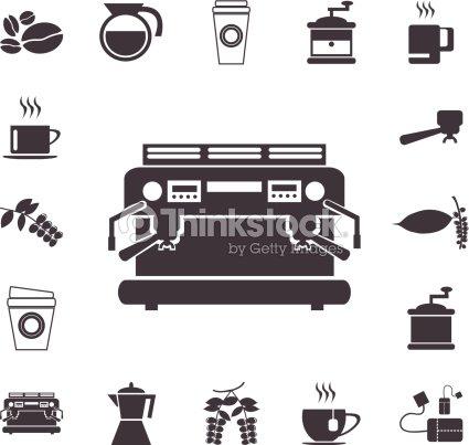 Coffee Machine Icons Vector Illustrations Eps10 Vector Art Thinkstock
